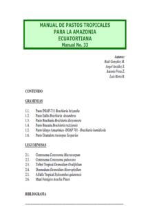 Manual de Patos Tropicales Para la Amazonia Ecuatorial