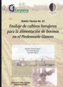 Ensilaje de cultivos forrajeros para la alimentación de bovinos en el Piedemonte Llanero