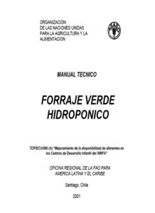 Manual Tecnico Forraje Verde Hdropónico